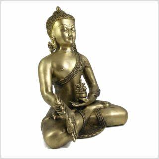 Medizinbuddha 6kg Messing Seitenansicht rechts