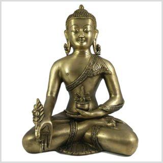Medizinbuddha 6kg Messing Vorderansicht