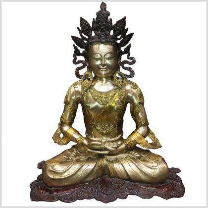 Erleuchteter Buddha - Adibuddha 55cm 28kg Vorderansicht