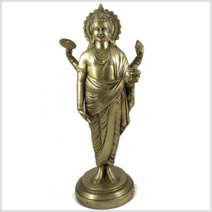 Dhanvantari 48cm mit Diskus und Muschelhorn Vorderansicht