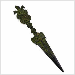 Phurpa Dolch grünantik Seitenansicht