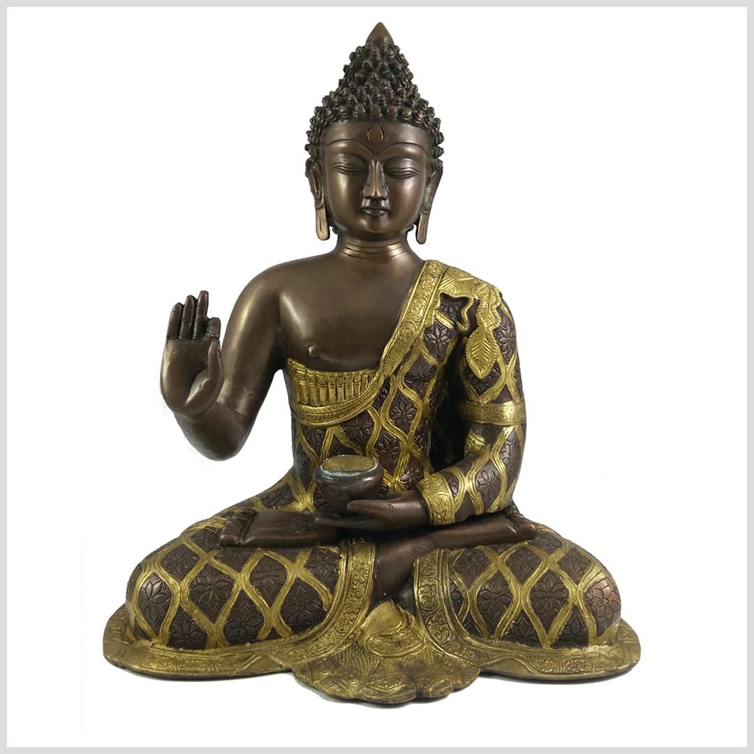 Lehrender Segnender Buddha 41cm Messing 9 6 Kg Nepal