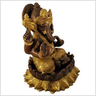 Ganesha Lotus Messing Kupfer Seitenansicht