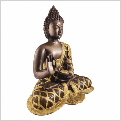 Lehrender Buddha 9,6kg Messing Kupfer Seite rechts