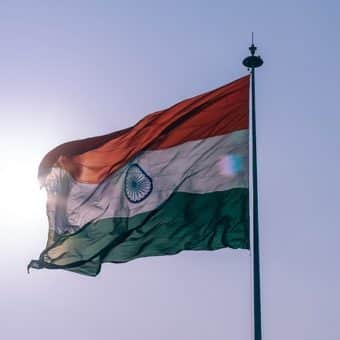 Nationalflagge Indiens