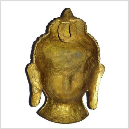 Buddhakopf Wandbehang Messing Rückseite