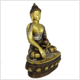 Erdender Buddha 33cm Tricoloure Seitenansicht rechts