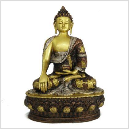 Erdender Buddha 33cm Tricoloure Vorderansicht