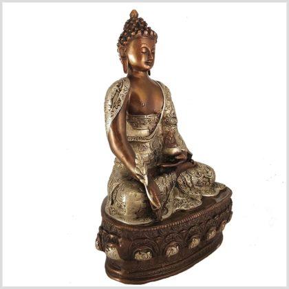 Medizinbuddha Kupfersilber 33cm 4kg Seitenansicht