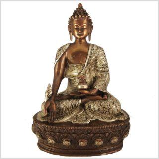 Medizinbuddha Kupfersilber 33cm 4kg Vorderansicht