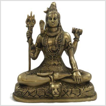Abhaya Shiva 20,5cm Messing Vorderansicht