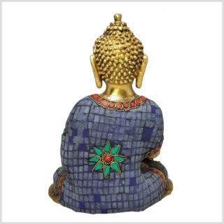 Medizinbuddha 25cm Steinarbeit Tricoloure Hinten