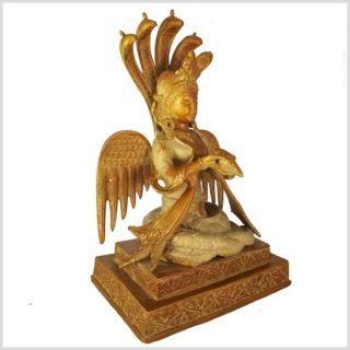 Nag Kanya auf Podest 6kg Messing Sandgold Seitenansicht rechts