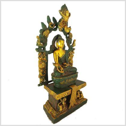 Medizinbuddha mit Tempel Nepalgrün 38cm 6kg Seitenansicht