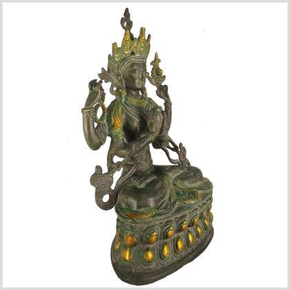 Avalokiteshvara Messing Nepalantik 36cm Seitenansicht rechts