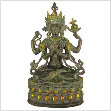 Avalokiteshvara Messing Nepalantik 36cm Vorderansicht