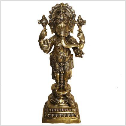 Stehender Ganesha aus Messing von vorne