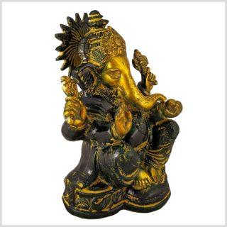 Ganesha mit Chakra Messing gelbgrün Seitenansicht