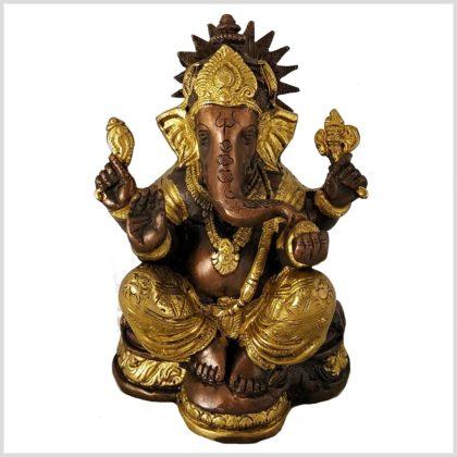Sitzender Ganesha aus Messing und Kupfer