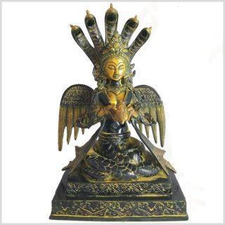Nak Kanya Messing gelbgrün antik Vorderansicht