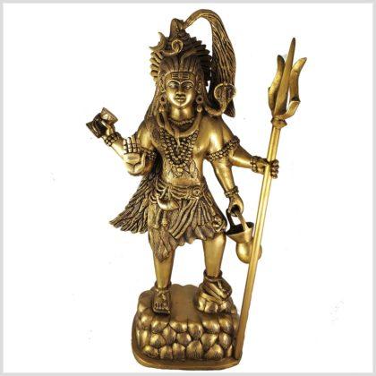 Stehender Shiva Messing 43cm Vorderansicht