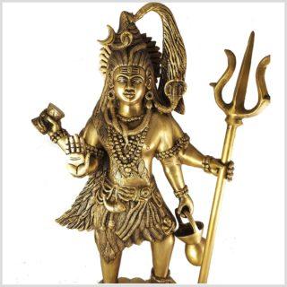 Stehender Shiva Messing 43cm Oberkörper
