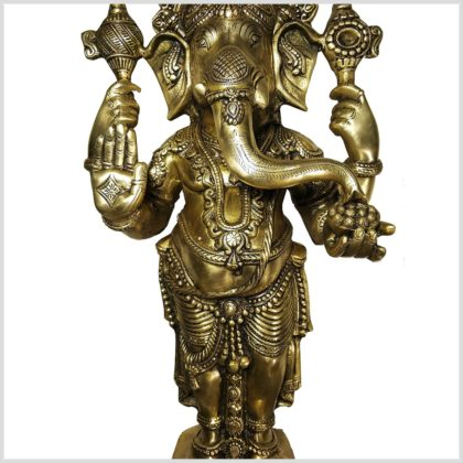 Großer Ganesha Stehend Messing
