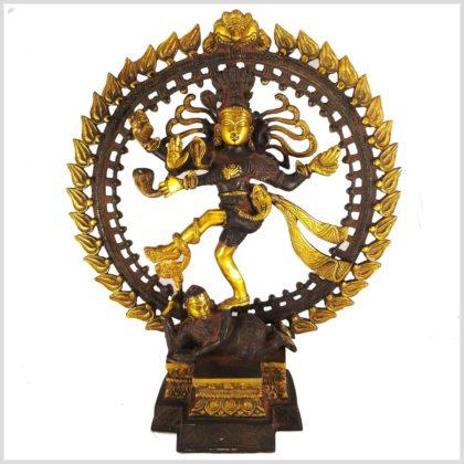 Tanzender Shiva 6,6kg Messing nepalbraungold Vorderansicht