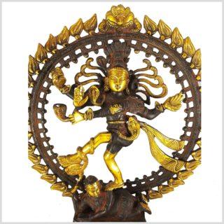 Tanzender Shiva 6,6kg Messing nepalbraungold Nahansicht