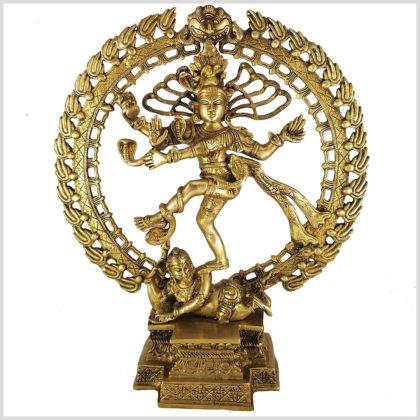Tanzender Shiva 6,6kg Messing Vorderansicht