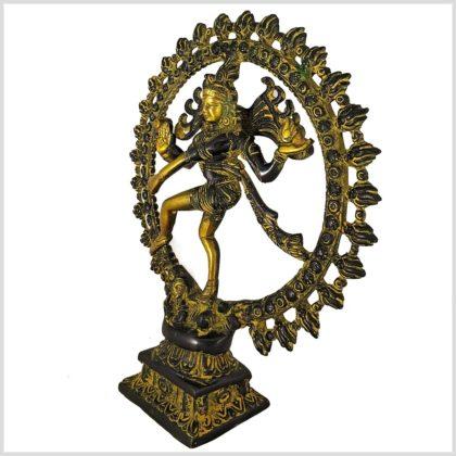 Tanzender Shiva 2,2kg Messing gelbgrün Seitenansicht links