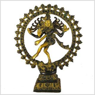Tanzender Shiva 2,2kg Messing gelbgrün Vorderansicht