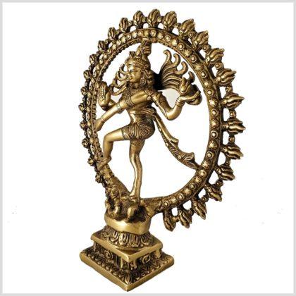 Tanzender Shiva 2,2kg Messing Seitenansicht links