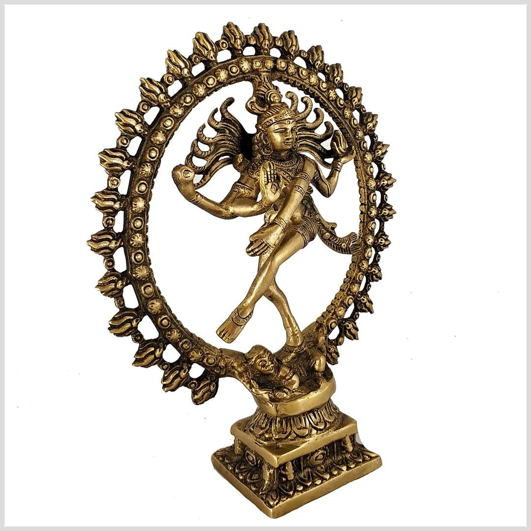 Tanzender Shiva Nataraja im Feuerkreis Messing 43cm 6,6 KG Hinduismus Ganesha