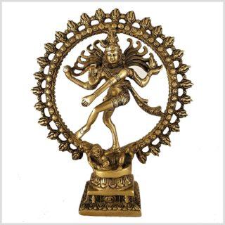 Tanzender Shiva 2,2kg Messing Vorderansicht