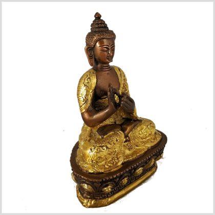 Dharmachakra Buddha verkupfert seitlich links