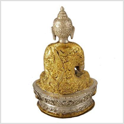 Dharmachakra Buddha versilbert hinten