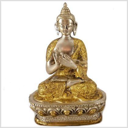 Dharmachakra Buddha versilbert vorne
