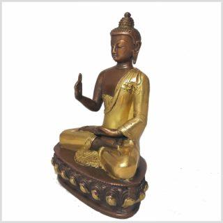 Lehrender Buddha aus Messing und Kupfer Seite
