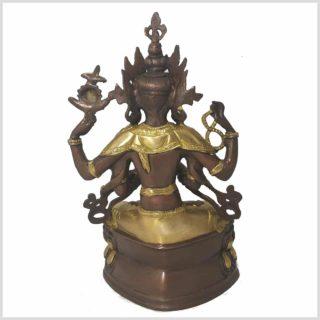 Avalokiteshvara 36cm Messing Kupfer Hinten