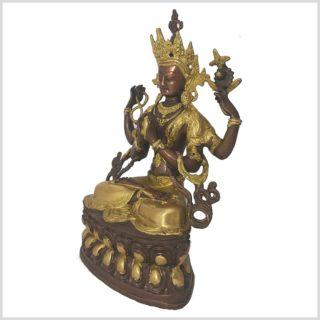 Avalokiteshvara 36cm Messing Kupfer Seitenansicht