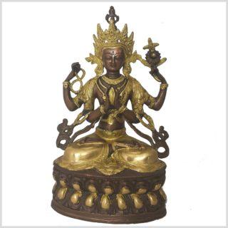 Avalokiteshvara 36cm Messing Kupfer Vorderansicht