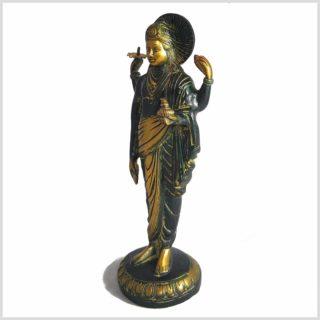 Dhanvantari Messing Antik Seitenansicht