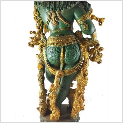 Krishna stehend 20kg Messing nepalgrün Hintern