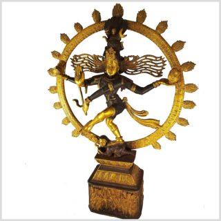 Tanzender Shiva Luckystyle braungold Seite