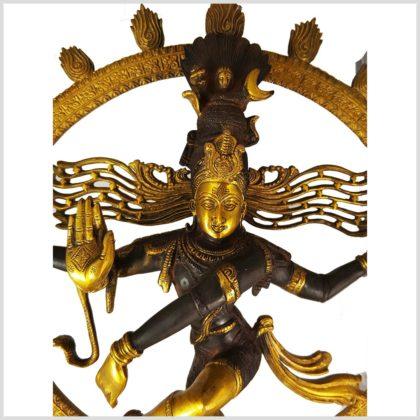 Tanzender Shiva Luckystyle braungold Gesicht
