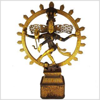 Tanzender Shiva Luckystyle braungold Vorderansicht