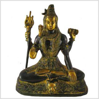 Shiva sitzend aus Messing vorne