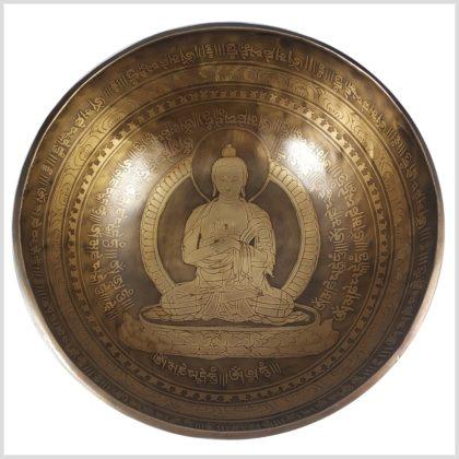 Solarplexus Klangschale 2645g Großer Buddha oben
