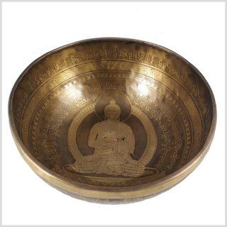 Solarplexus Klangschale 2645g Großer Buddha Innenansicht